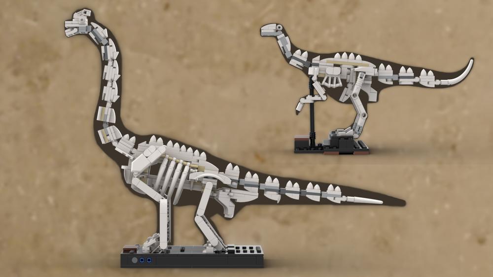 Dinosaur Fossil Part 1 Custom instruction consisting of LEGO elements