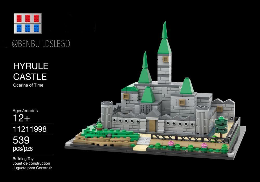 Lego Moc Hyrule Castle Ocarina Of Time By Benbuildslego Rebrickable Build With Lego
