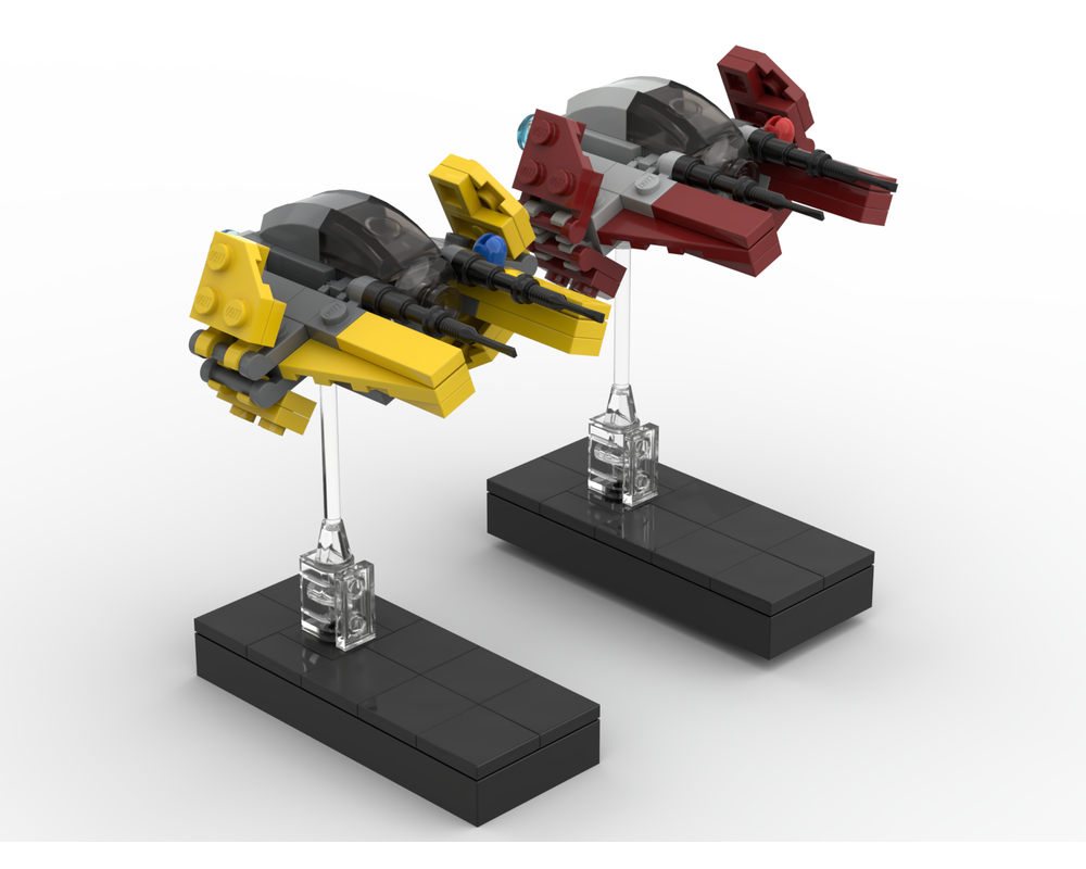 Lego Moc Mini Eta 2 Actis Class Interceptors By Mocmind Rebrickable Build With Lego