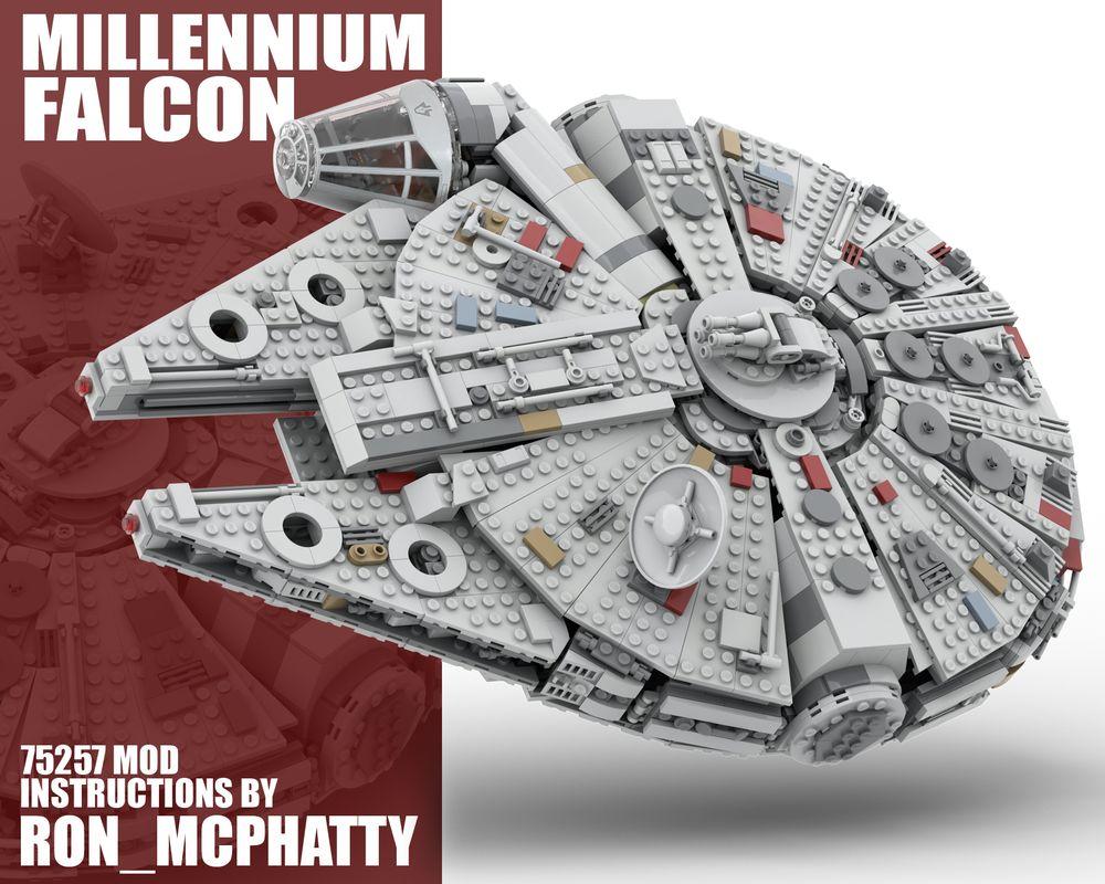 Lego Moc Millennium Falcon Set 75257 Mod By Ron Mcphatty Rebrickable Build With Lego