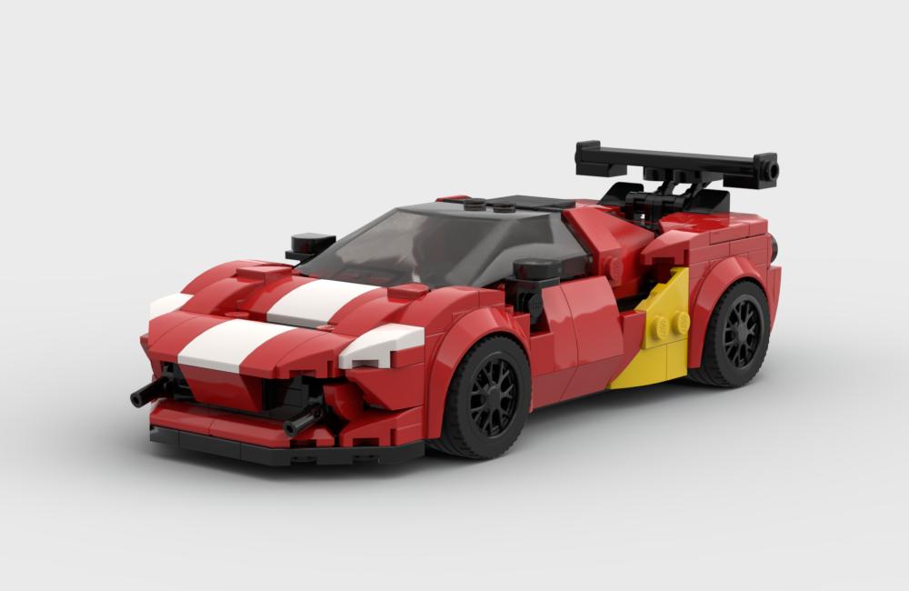 Lego Moc Ferrari F8 Tributo Race Edition By Fakhri Argya Rebrickable Build With Lego