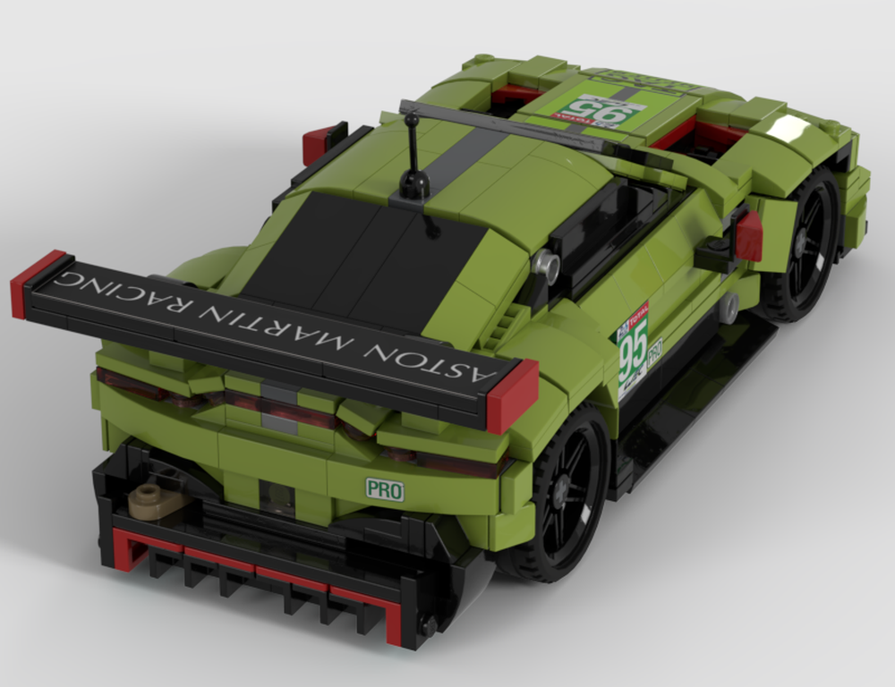 Lego Moc Aston Martin Vantage Amr 95 From Le Mans 2018 By Lassed Rebrickable Build With Lego