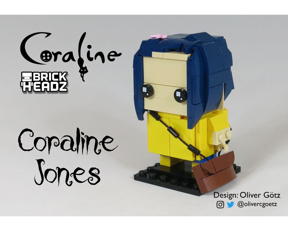 Lego Moc Coraline Brickheadz Coraline Jones By Olivercgoetz Rebrickable Build With Lego