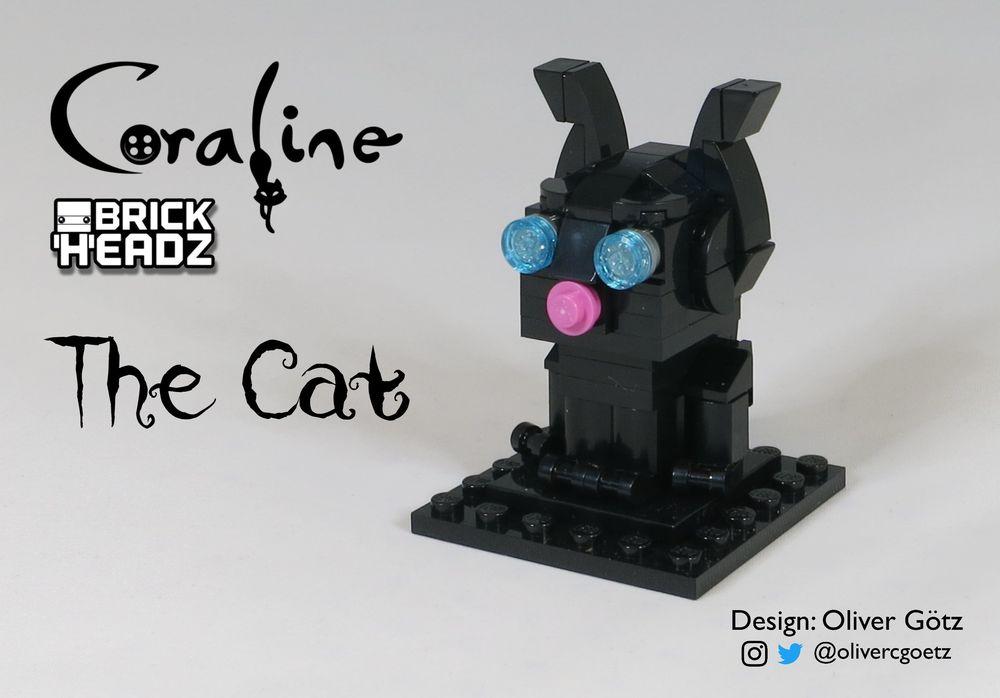 Lego Moc Coraline Brickheadz The Cat By Olivercgoetz Rebrickable Build With Lego