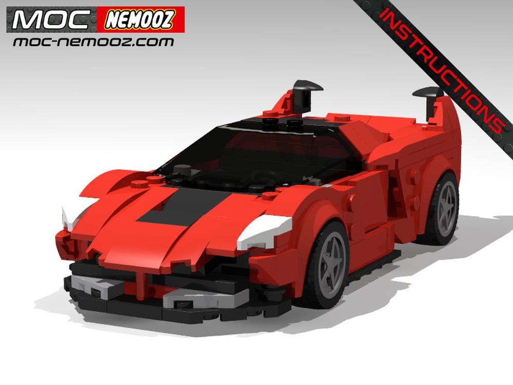 Lego Moc Ferrari Fxx K By Moc Nemooz Rebrickable Build With Lego