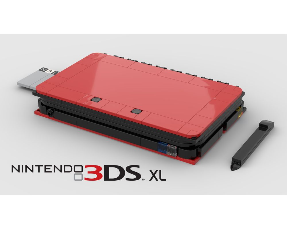 Lego Moc Nintendo 3dsxl 1 1 Scale By Giannipower Rebrickable Build With Lego