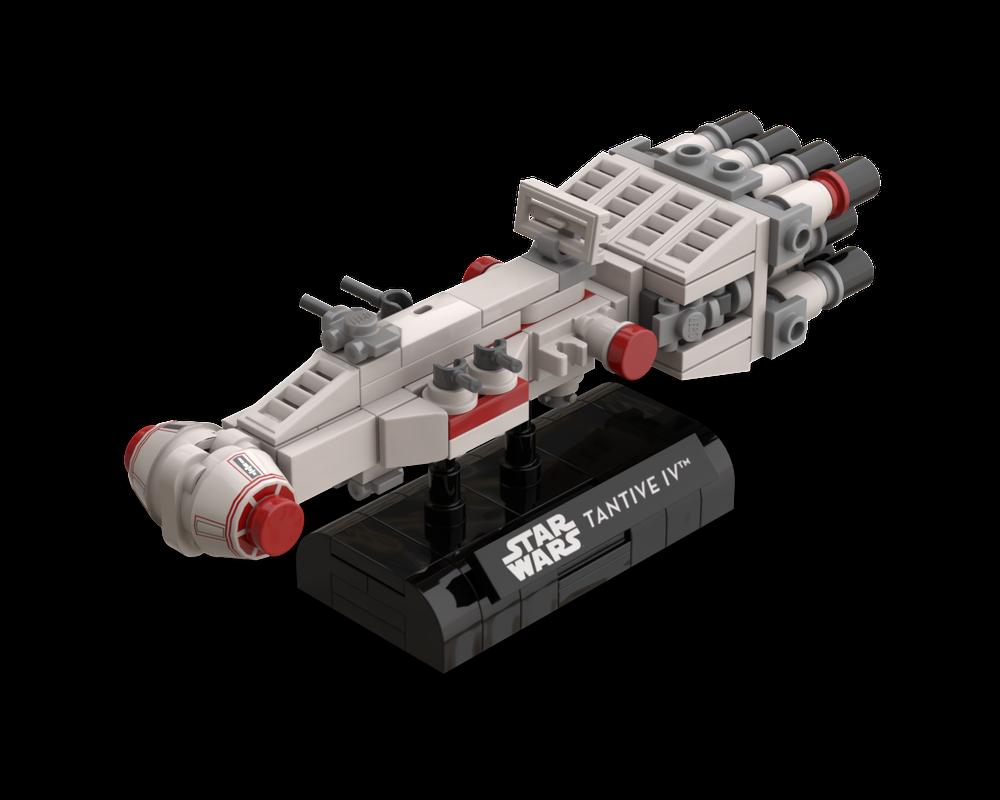 Star Wars Galoob Micro Machines Rebel Blockade Runner Tantive IV with stand