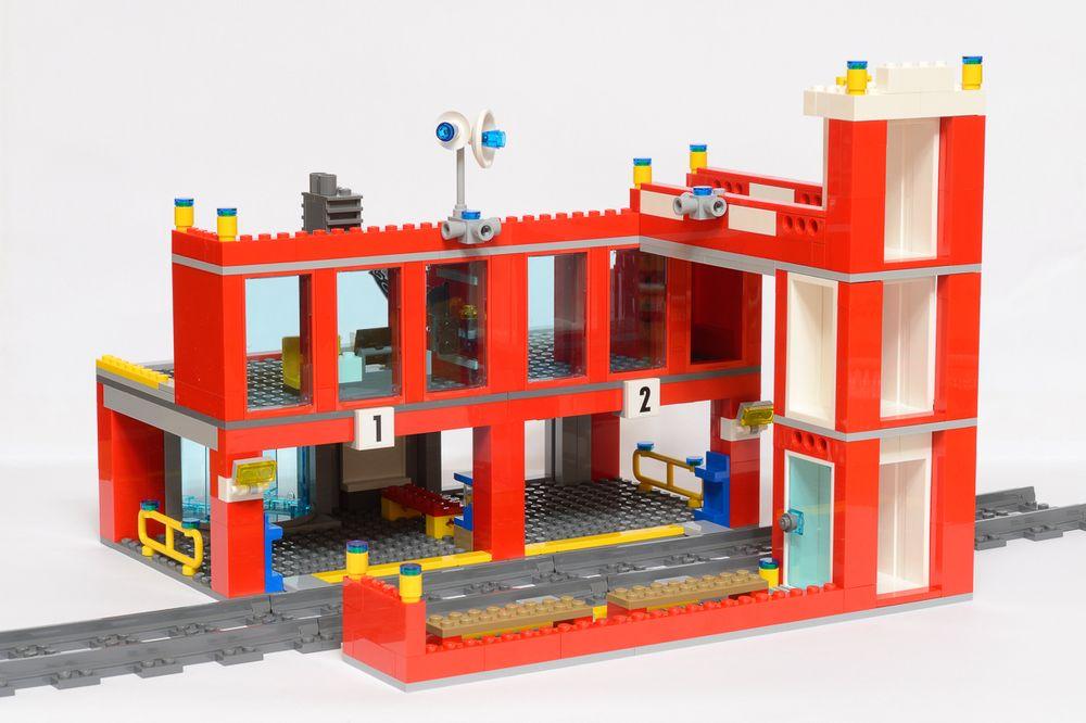 LEGO MOC-5903 60110 Train Station (Train 2016) | Rebrickable