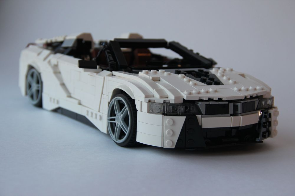Lego Moc Bmw I8 Convertible By Rolic Rebrickable Build With Lego