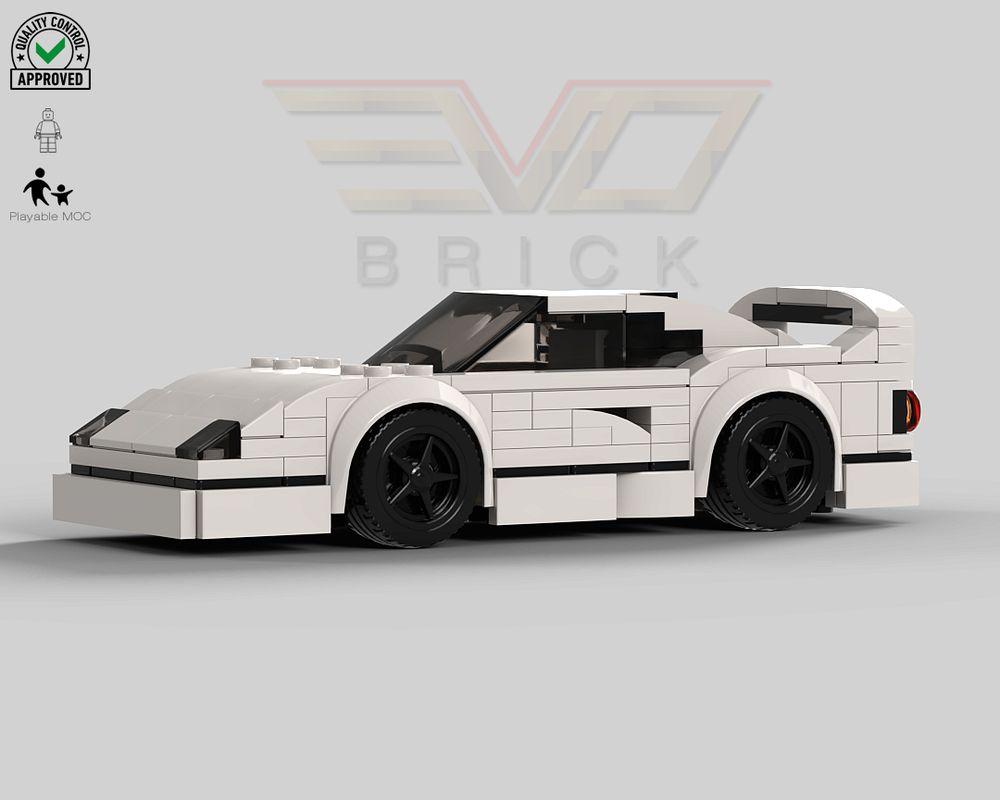 Lego Moc Ferrari F40 White By Evo Brick By Evobrick Rebrickable Build With Lego