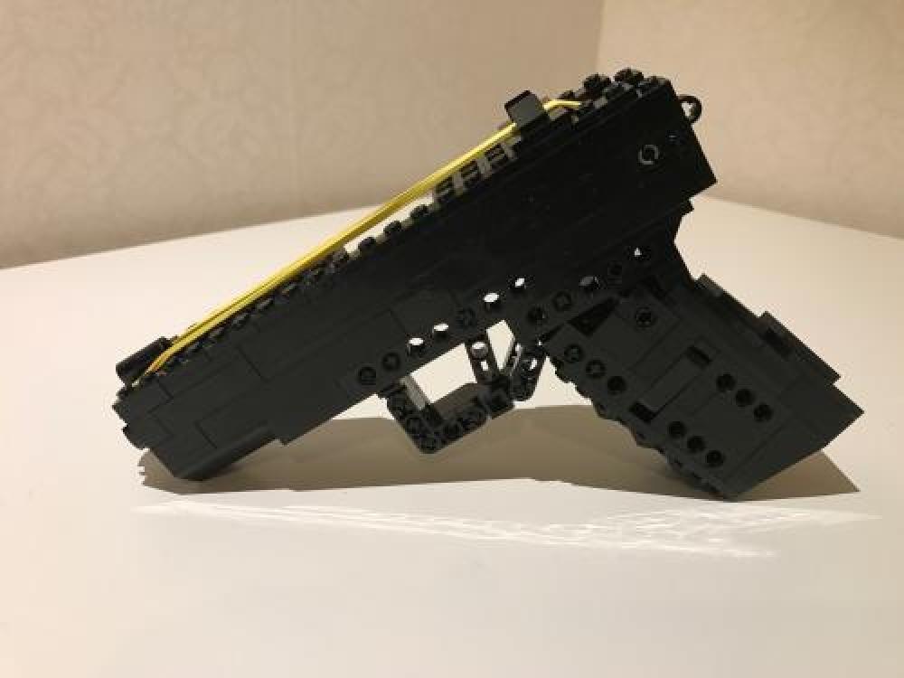 Lego Moc 6256 Rubber Band Gun Glock 17 With Magazine
