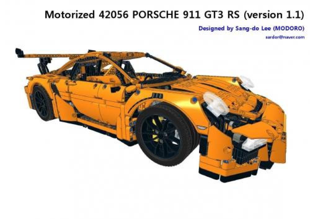 Lego Moc 6276 Motorized 42056 Porsche 911 Gt3 Rs Version 11