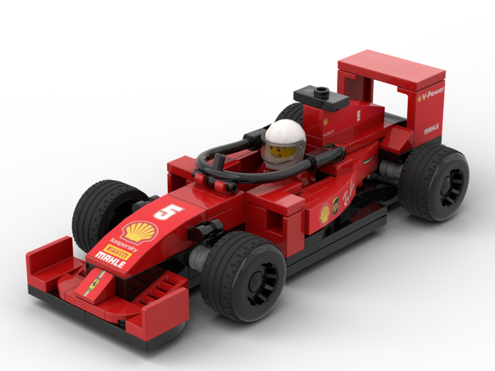 Lego Moc 2020 Ferrari Sf1000 Formula One F1 Car By Matthew Is Matthew Rebrickable Build With Lego
