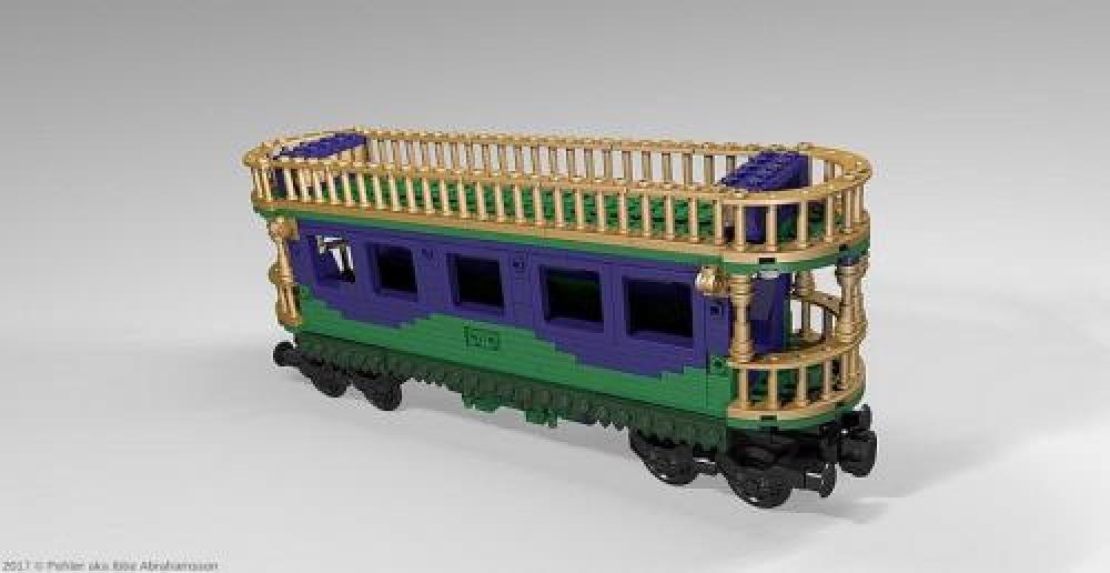 LEGO MOC-6355 Train wagon (Town > City > Trains 2017