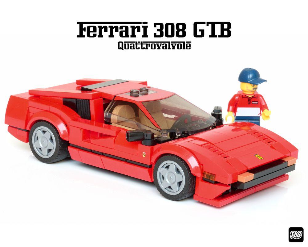 Lego Moc Ferrari 308 Magnum P I By Tlg Rebrickable Build With Lego