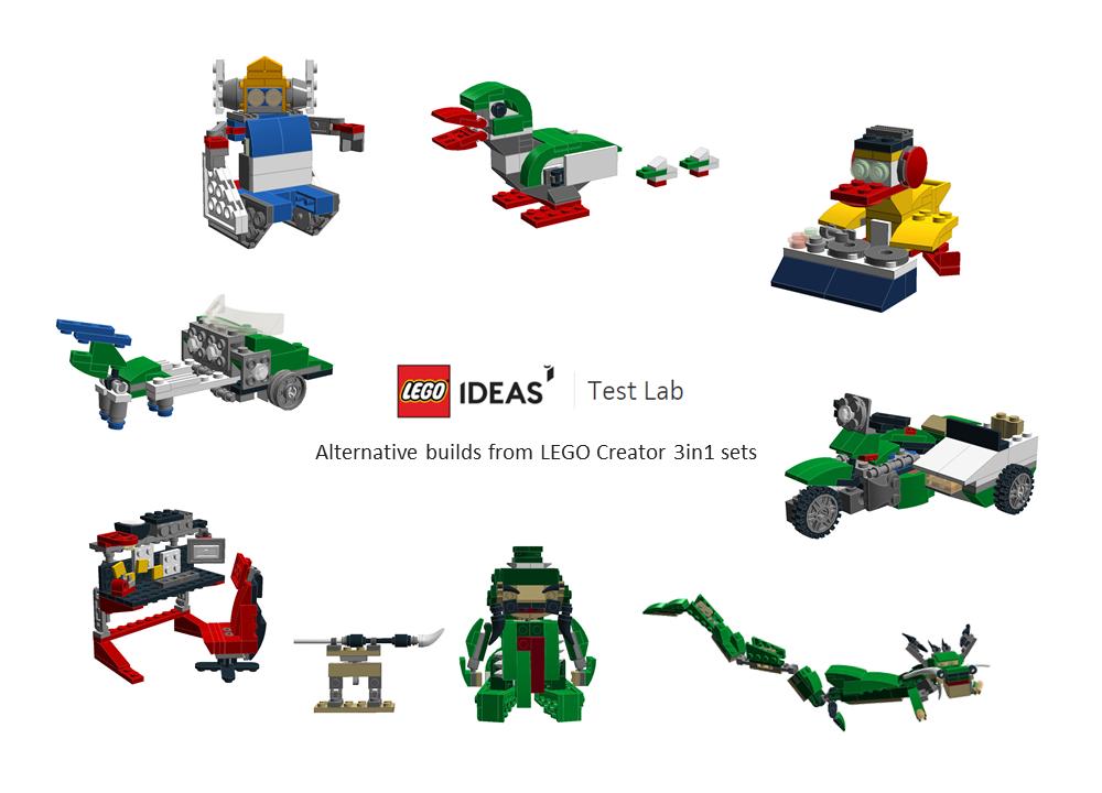 LEGO MOC-7282 Alternative builds from LEGO Ideas-testlab event