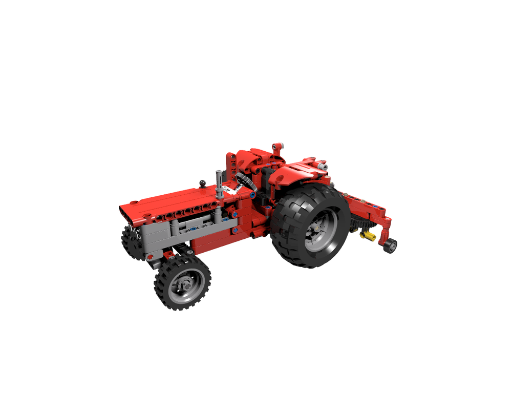 TECHNIC MOC 7304 851-1 Red Tractor 40 Years Anniversary Edition by Jb70 MOCBRICKLAND