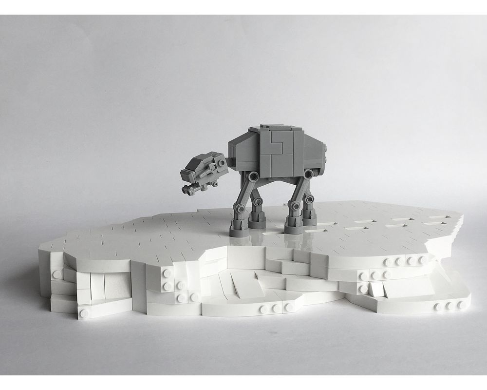 Star war moc 8089 tiny at-at by micro mocbrickland