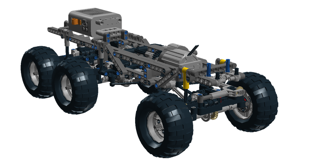 LEGO MOC-8090 6x6 chassis for trial (Technic > Model > Off-Road 2017