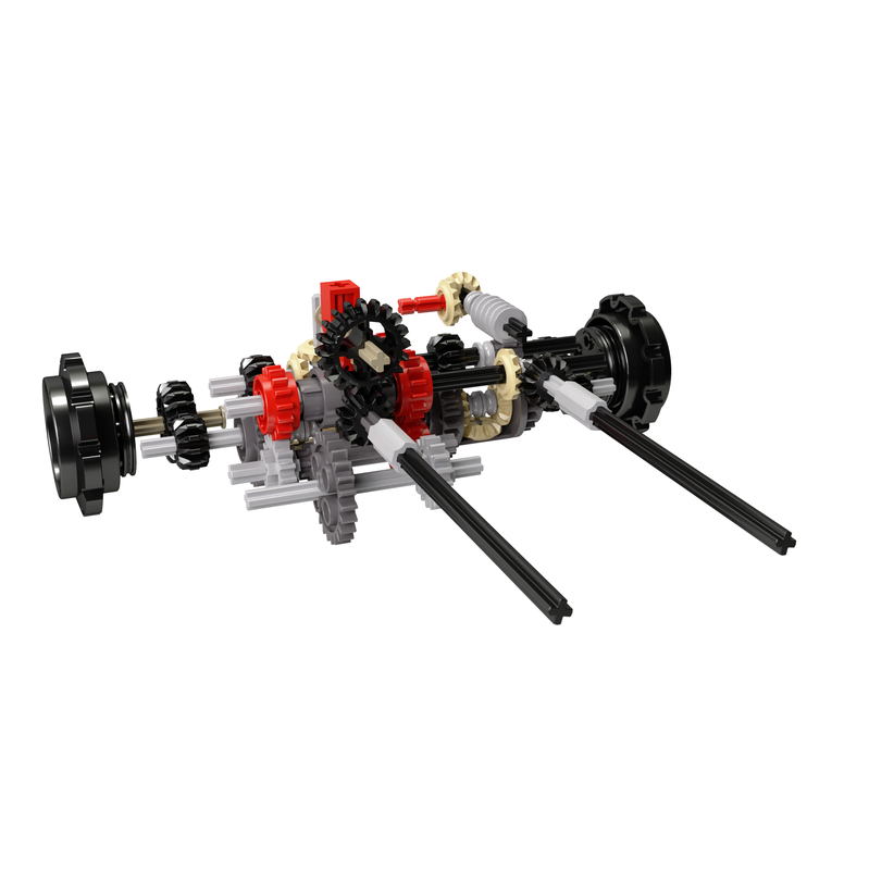 LEGO MOC-8474 Integrated dual differential steering mechanism with