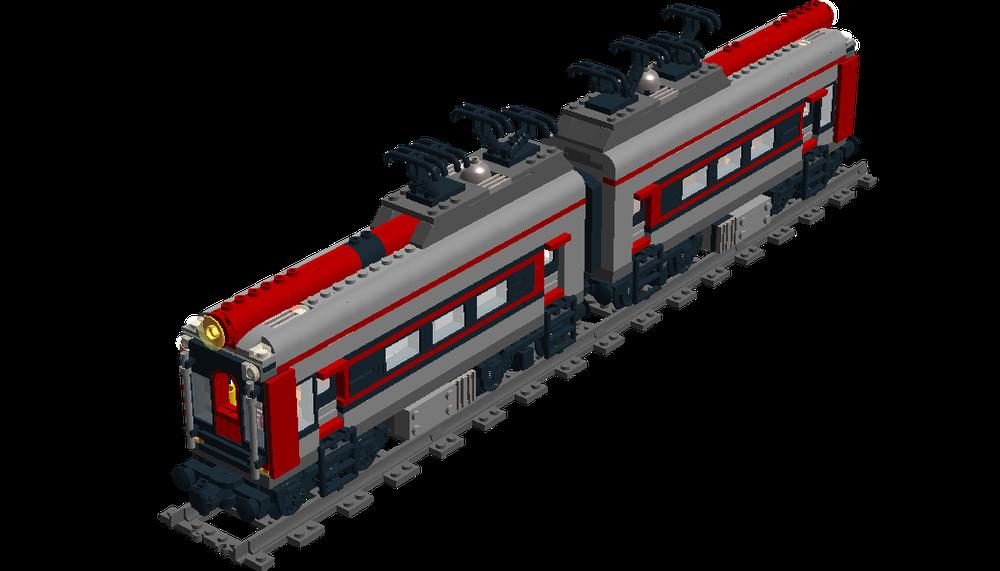 LEGO MOC-8505 Metro-North Train (Train 2016)   Rebrickable