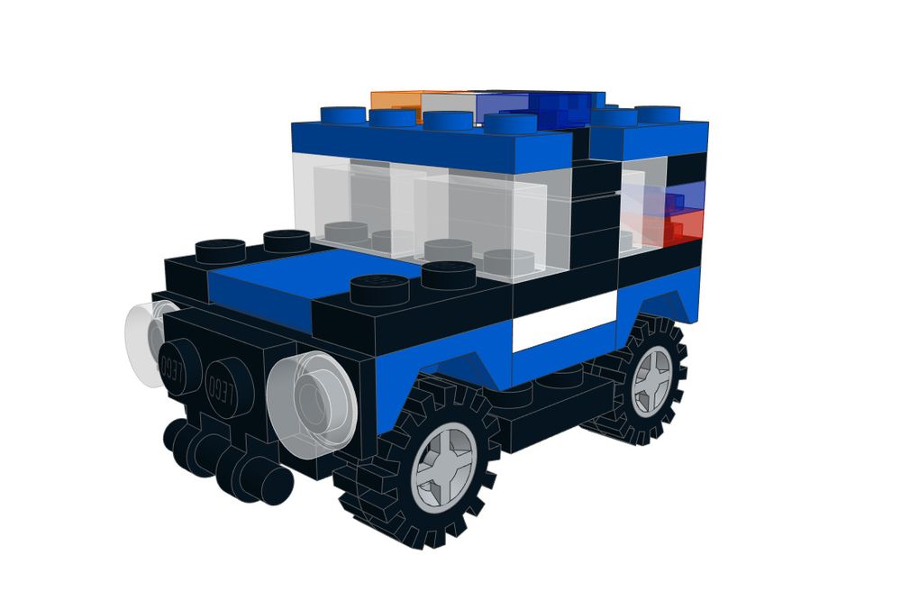 LEGO MOC-9039 Mini LEGO Police Car (JEEP) (Cars 2017