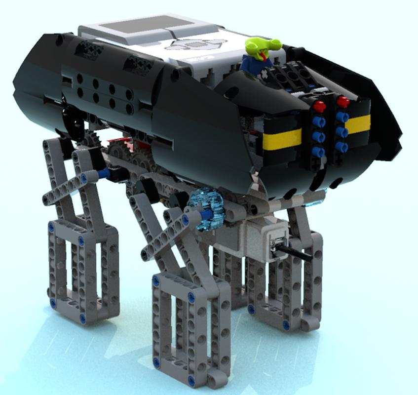 LEGO MOC-9043 4 leg walker robot (Mindstorms > EV3 2016