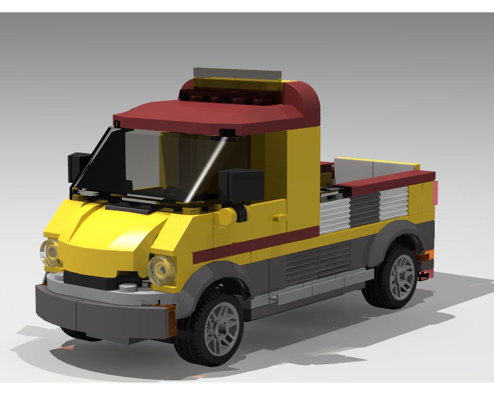 Lego Moc 9565 Pickup Truck Alt Build Of 60150 Pizza Van