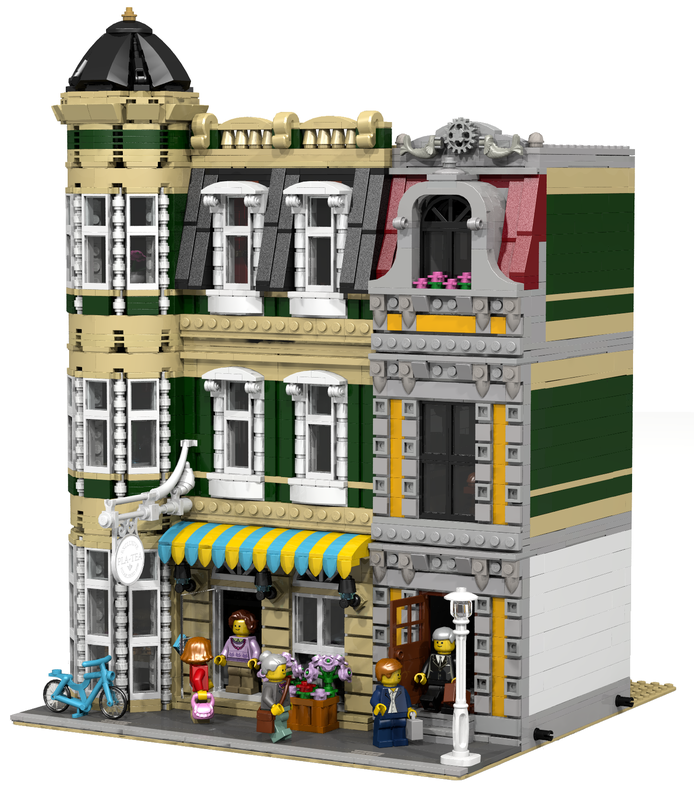 LEGO MOC-9831 Modular Tearoom (Modular Buildings 2017) | Rebrickable