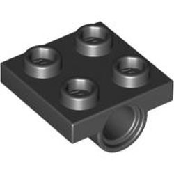 Missing Lego Brick 2444 Black x 8 Plate 2 x 2 with Hole