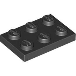 NEUF Lego 3021-8x Plaque Black Plate 2x3 Noir