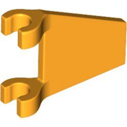 LEGO part 44676 Flag 2 x 2 Trapezoid in Flame Yellowish Orange/ Bright Light Orange