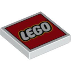 4x LEGO 3068b Piatto 2x2 Nero306826
