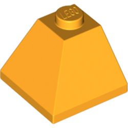 LEGO part 3045 Slope 45° 2 x 2 Double Convex in Flame Yellowish Orange/ Bright Light Orange