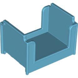 LEGO part 4886 Duplo Bed, Bunk in Medium Azure