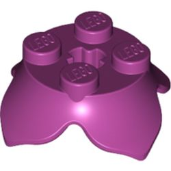 LEGO part 15469 Plate Round 2 x 2 x 2/3 with + Axle Hole and 4 Leaf Extensions in Bright Reddish Violet/ Magenta