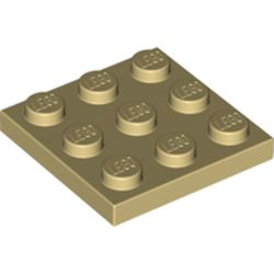 LEGO part 11212 Plate 3 x 3 in Brick Yellow/ Tan