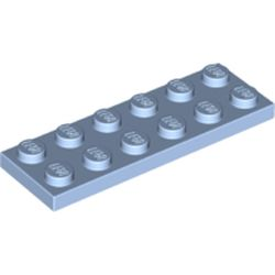 LEGO part 3795 Plate 2 x 6 in Light Royal Blue/ Bright Light Blue