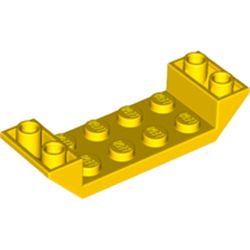 LEGO part 22889 Slope Inverted 45° 6 x 2 Double with 2 x 4 Cutout in Bright Yellow/ Yellow