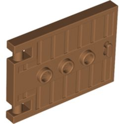 LEGO part 93096 Door 1 x 5 x 3 with 3 Studs and Handle in Medium Nougat