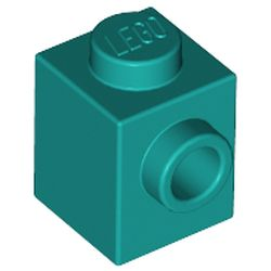 LEGO part 87087 Brick Special 1 x 1 with Stud on 1 Side in Bright Bluish Green/ Dark Turquoise