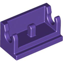 LEGO part 3937 Hinge Brick 1 x 2 Base in Medium Lilac/ Dark Purple