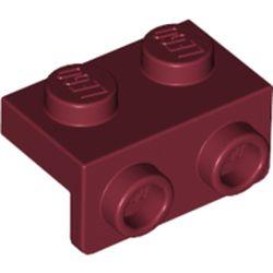 LEGO part 99781 Bracket 1 x 2 - 1 x 2 in Dark Red