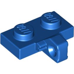 LEGO part 44567b Hinge Plate 1 x 2 Locking with 1 Finger on Side, without Groove in Bright Blue/ Blue
