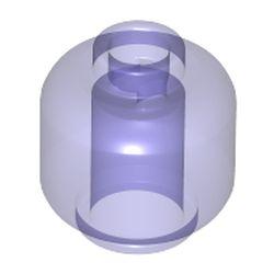 LEGO part 28621 Minifig Head Plain [Vented Stud - 2 Holes] in Transparent Bright Bluish Violet/ Trans-Purple