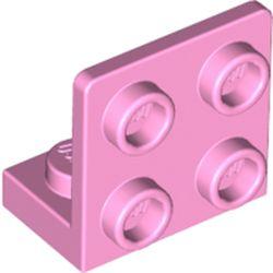 LEGO part 99207 Bracket 1 x 2 - 2 x 2 Inverted in Light Purple/ Bright Pink