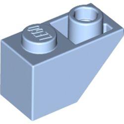 LEGO part 3665 Slope Inverted 45° 2 x 1 in Light Royal Blue/ Bright Light Blue