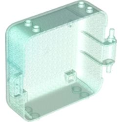 LEGO part 64462 Pod, Square 3 x 8 x 6 2/3 [Male] in Transparent Blue with Opalescence/ Satin Trans-Light Blue