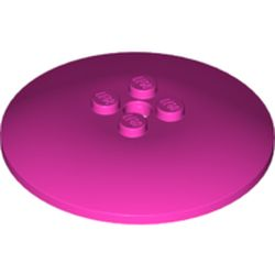 LEGO part  Dish 6 x 6 Inverted (Radar) with Solid Studs in Bright Purple/ Dark Pink