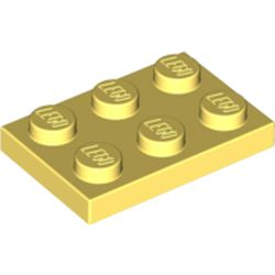 LEGO part 3021 Plate 2 x 3 in Cool Yellow/ Bright Light Yellow